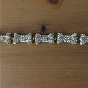 Kate Spade crystal studded bow bracelet